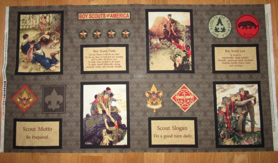 Boy Scouts Of America Fabric Panel 44 X 22 Norman By 1723diane
