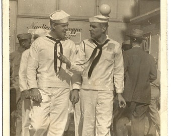 Snap Shot of 2 Sailors-WWII Surnames-Alexa and Farrar