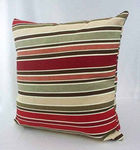 Decorative Pillows With Stripes : Stripe pillow cover Colorful pillow cover Multicolor pillow