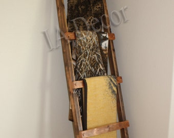 Blanket Ladder 7' H - Rustic Blanket Ladder - Barnwood blanket ladder