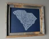 Charleston South Carolina Word Map (Dark Blue)