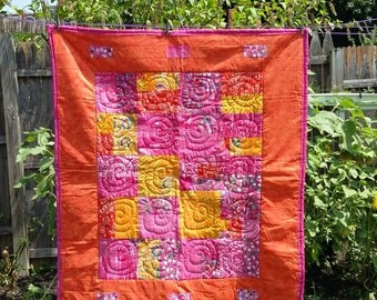 Shades of Sunset Batik Lap Quilt