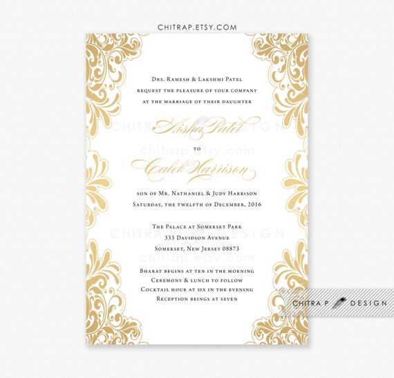 like this item - White And Gold Wedding Invitations
