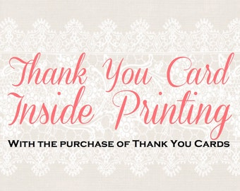 Thank You Card Up-Grade - Custom Inside Card Printing