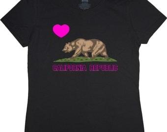 Ladies T-shirt / California flag
