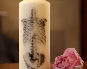 Skeleton - Pillar Candle - Anatomical Decor