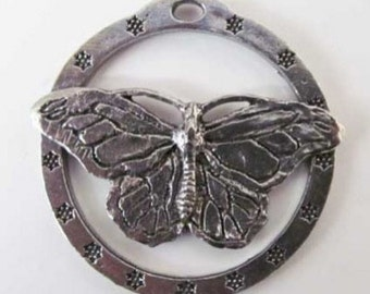 Pewter ~ Monarch Butterfly ~ Small ~ Holiday Ornament ~ A040OR