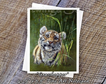 Wildlife Note Cards - Tiger Note Cards - Wildlife Prints - Wild Animal Note Cards - Tiger Prints - Wildlife Stationary