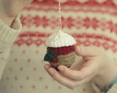 Crochet Coffee Cup Christmas Ornament   Starbucks Inspired Holiday Ornament