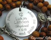 Baptism Gifts for Boys. Custom, Personalized, Engraved, Baptism, Baptism Gifts, Custom Baptism Gifts, Custom Rosary, Godparents Gifts  Z1