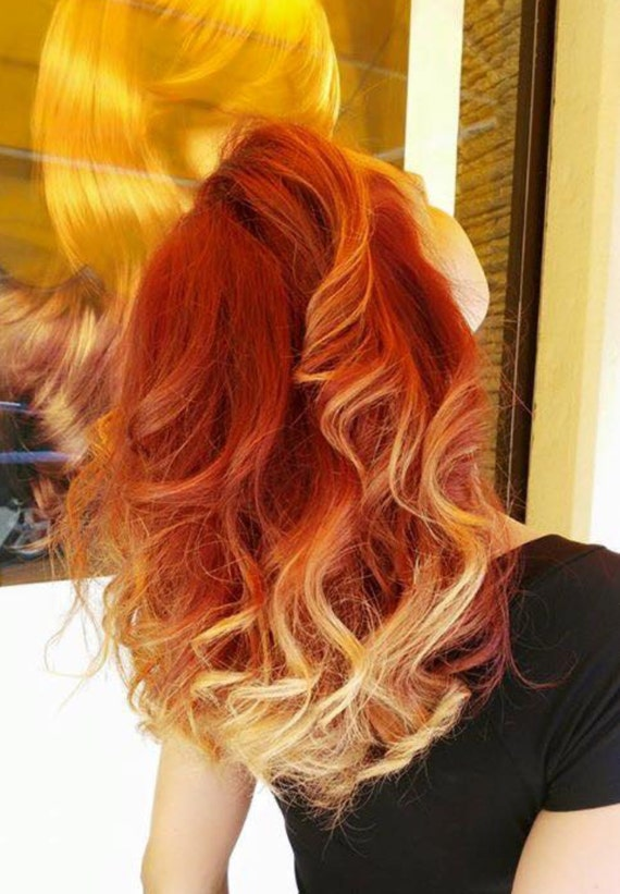 Fire Red Hair Extensions Clip In Remy Indian Hair
