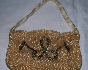 1950s Bag by Debbie Pearl Beaded Clutch - Purse - Handbag - Made in Japan  - Vintage