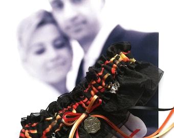 Fireman Wedding Garter - Toss Garter - Set - Firefighter - Fire Fighter - Fire- Bride - Bachlorette - My Hero - You Light My Fire