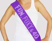 40th Birthday Sash - Rhinestone Sash, Purple Sash, 40th Birthday Gifts for women, 40th Birthday Decoration, 40th Birthday Party, Birthday