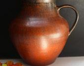 Wiedemann Vulkano VASE Fat Lava 50's/60's Mid Century West German Pottery
