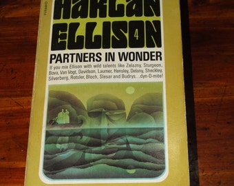 Vintage 1970's Short Stories Collection Partners in Wonder Harlan Ellison