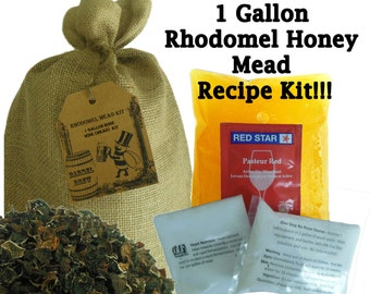 "1 Gallon Rhodomel Honey Mead Ingredient Kit - ""Rose Honey Wine"" Recipe Kit"