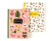 Beach Bum Duo Books | Tropical Insipired Notebook & Sketchbook Set