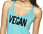 Vegan Tank Top,Triblend Top, Vegan Shirt, Vegan Tee, Vegan tshirt, Vegan month of food, T-Shirt, Level Apparel