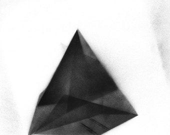 Modern geometric crystalline original painting