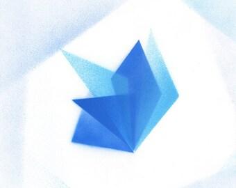 Modern geometric origami original painting
