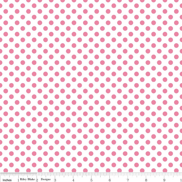 Small Polka Dot Fabric/Riley Blake/Choose Hot Pink by ...