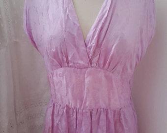 SALE! Vintage 1940s - 50's lilac evening dress, gown