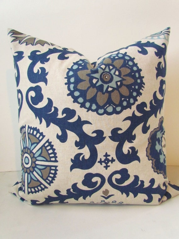 pillows navy blue throw pillow covers dark blue tan decorative pillows blue pillows covers all sizes 18x18 16 20 medallion home and living