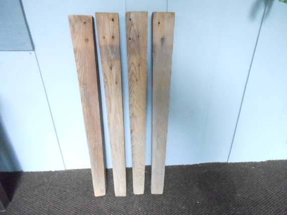 Table Leg Replacement Parts : Primitive set of table legs about inches tall heartpine