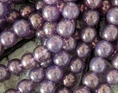 8mm Milky Pink Moondust Round Beads - 25 pieces - 617
