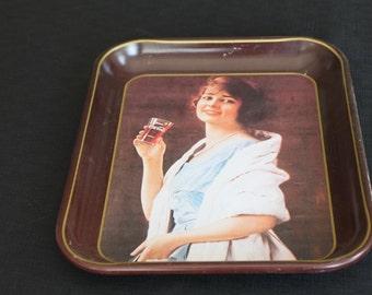 vintage 1979 Coca Cola tray lady white shawl