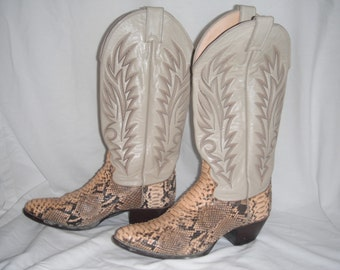 Vintage Justin snakeskin boots