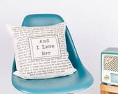 And I Love Her Lyrics Song Pillow Cover