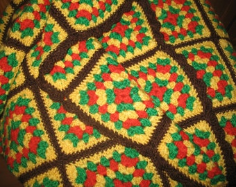 Cover crocheted vintage 70