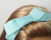 "American Girl 18"" Doll Cinderella Collection Aqua Bow Headband"