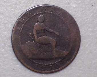 1870 Spain 10 Centavos Coin