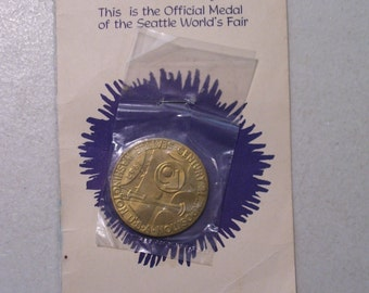 Vintage US Space Age Token Coin, 1962, Worlds Fair Official Seattle Issue