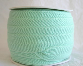 "1"" Poly Twill Tape, Apron Tape, Herringbone 7 SOLID COLORS"