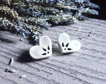 Heart Earrings   Sterling Silver