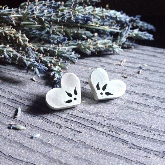 Heart Earrings | Sterling Silver