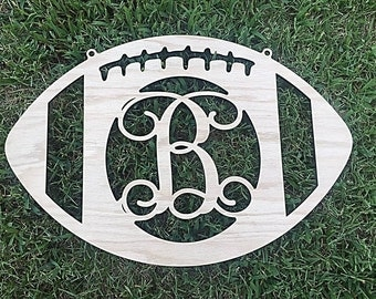 Wooden Initial Football  ***Ships in 3-5 Days***