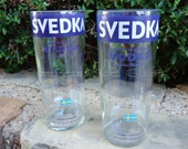 Svedka Vodka Bottle Drinking Glasses Set of 2