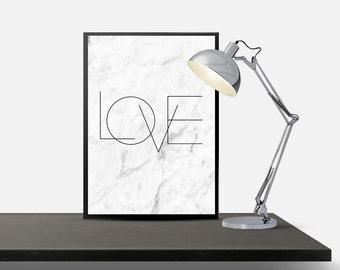love marble art print