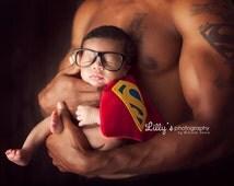 Superman Superhero Newborn Boy Costume - Photography Prop - Halloween - Superman - DC Comics, baby shower gift, Superhero Prop for Boy