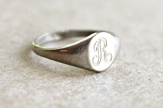 R Is For Ring Vintage Sterling Initi...