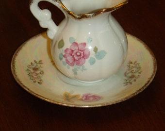 Vintage RoyalCrown  Creamer and saucer  #4109 #10178