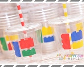 Building Blocks Birthday Party-Kids Party Cups-Party Favor Cups