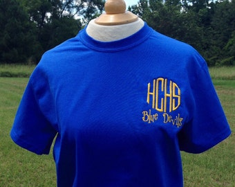 Monogram t-shirt School Shirt