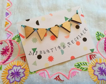 Create your own bunting flags necklace