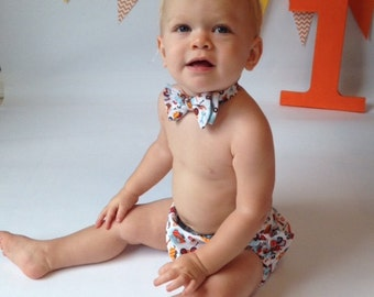 Custom Diaper Cover, Bowtie & Hat, Birthday and Event Outfits